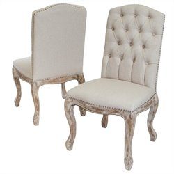 Trent Home Jack Dining Chairs in Beige (Set of 2)