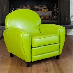 Trent Home Marlin Leather Club Chair in Green