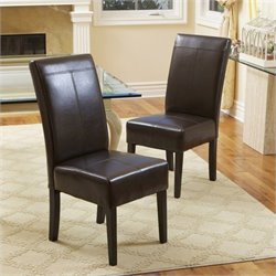 Noble House Anthony Dining Chairs in Chocolate Brown (Set of 2)