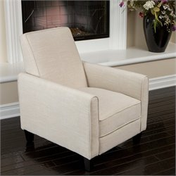 Trent Home Delouth Recliner Club Chair in Beige