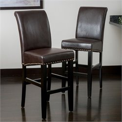 Noble House Miranda Bar Stool in Brown (Set of 2)