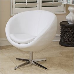 Trent Home Daniel Modern Egg Chair in White