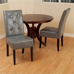 Trent Home Tara Dining Chair in Gray (Set of 2)