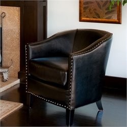 Noble House Jeremy Club Chair in Black