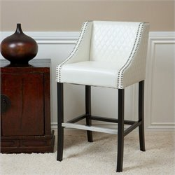 Noble House Carlita Bar Stool in Ivory