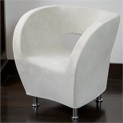 Noble House Colleen Accent Chair in Ivory