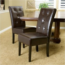 Trent Home Tara Dining Chair in Brown (Set of 2)