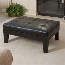 Trent Home Gotham Storage Ottoman in Black