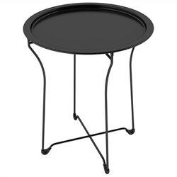 Dar Metal Round Side Table in Black