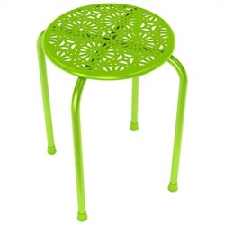 Dar Daisy Side Metal End Table in Lime Green (Set of 2)