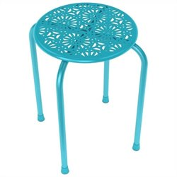 Dar Daisy Side Metal End Table in Capri Breeze (Set of 2)