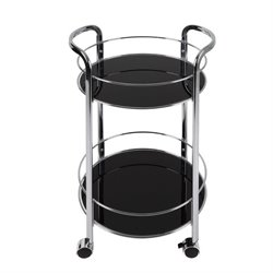 Dar Modern Bar Cart in Black