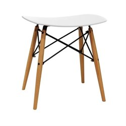 Dar Vaarna Saddle Stool in White