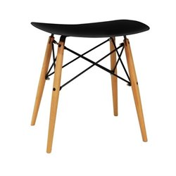 Dar Vaarna Saddle Stool in Black