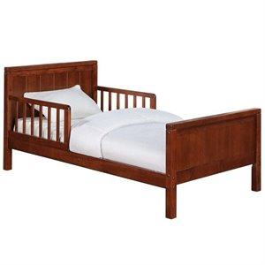 Toddler Bed in Dark Cherry