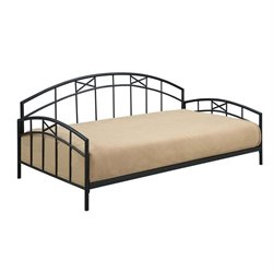 Dorel Living Metal Daybed in Black