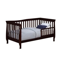 Dorel Living Sleigh Toddler Bed in Espresso