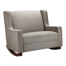 Baby Relax Hadley Double Rocker in Dark Taupe