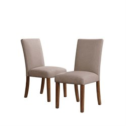 Linen Dining Chairs in Taupe (Set of 2)