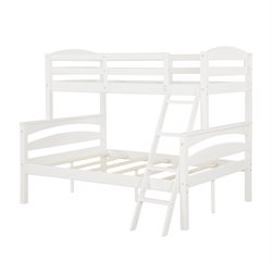 Twin over Full Bunk Bed in White
