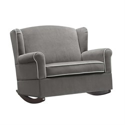Baby Relax Lainey Wingback Rocker in Graphite Gray