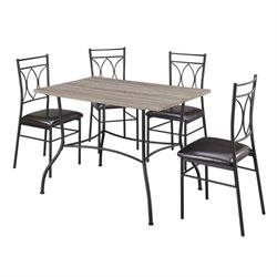 Dorel Living Shelby 5 Piece Metal Dining Set
