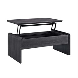 Dorel Living Lift Top Coffee Table in Dark Gray