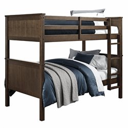 Dorel Living Maxton Twin over Twin Bunk Bed in Mocha
