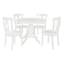 Dorel Living Aubrey 5 Piece Dining Set in White