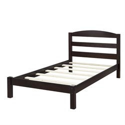 Twin Bed in Espresso
