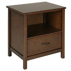 Dorel Living Maxton Nightstand in Mocha