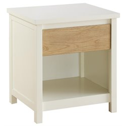 Dorel Living Blaine Nightstand in Two Toned White and Wheat