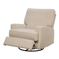 Swivel Gliding Recliner in Beige