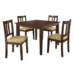 Dorel Living Redmond 5 Piece Dining Set in Espresso