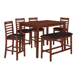 Dorel Living MacCauley Counter Height Pub Set in Cherry
