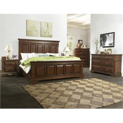 Dorel Fine Furnishings McAllen 5 Piece King Bedroom Set in Cherry