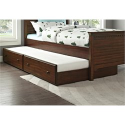 Dorel Living Auburn Twin Trundle in Dark Chestnut