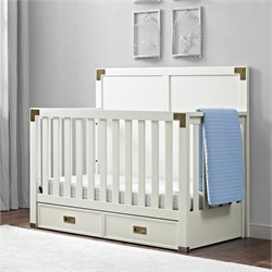 MonBebe Wyatt 4 in 1 Convertible Crib in Classic White