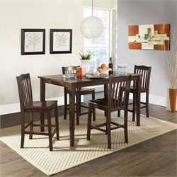 Dorel Living Brookville 5 Piece Counter Height Dining Set
