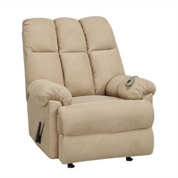 Dorel Living Padded Massage Recliner in Tan