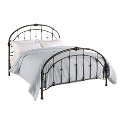 Dorel Living Queen Metal Bed in Antique Pewter