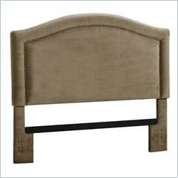 Dorel Living Headboard with Nailheads in Stone - Full or Queen