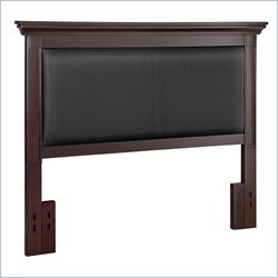 Dorel Living Wood and Blended Leather Headboard in Queen Size