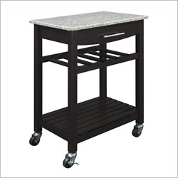 Dorel Living Granite Top Kitchen Cart