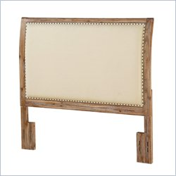 Dorel Living Sleigh Back Wood Headboard with Nailheads