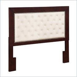 Dorel Living Wood Tufted Panel Headboard in White