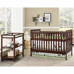Baby Relax Ryder 2 in 1 Crib with Changing Table (nursery  in a box) in Espresso