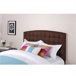 Dorel Living Tufted Panel Headboard in Brown