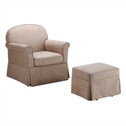 Dorel Living Swivel Glider and Ottoman Set - Microfiber