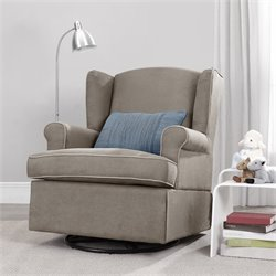 Dorel Living Swivel Glider in Dark Taupe